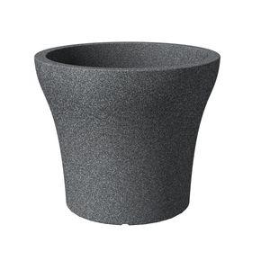 Scheurich 258/60 Übertopf No1 Stone 60 Schwarz Granit - 59,2 cm x 59,2 cm x 50,3 cm; 55393