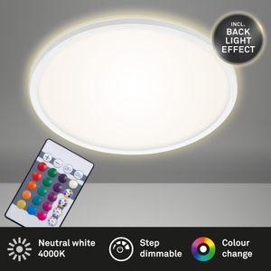 LED Panel dimmbar RGB Fernbedienung 22 W Weiß Ø42cm Briloner Leuchten