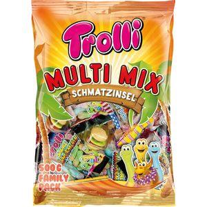 Trolli Mini Fruchtgummi Multi Mix Schmatzinsel Family Pack 500g