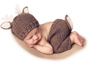 Baby Fotoshooting Kostüme Set Tiere REH Mütze & Hosen, Reh