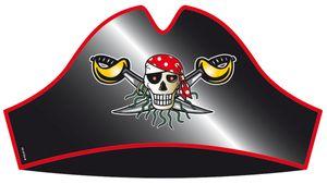 Red Pirate Piraten Hüte Piraten Party 8 Stück