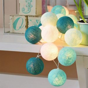 Baumwolle Ball Lichterkette - 3,5M 20 LED Kugel Lichterketten mit Stecker für Innen Nachtlicht Deko wie Weihnachten, Hochzeit, Party, Zimmer, Vorhang [Energieklasse A+++]