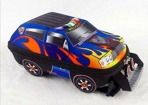3D Auto Kinderrucksack Kindergarten Schale Schultaschen Rucksack (Blau)