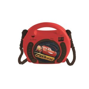 CARS - Kinder-Karaoke-CD-Player mit 2 Mikrofonen