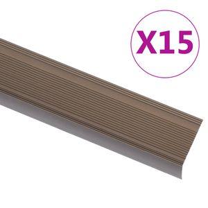 Chunhe Treppenkantenprofil Treppenkanten Winkelprofil Treppenkantenschutzin L-Form 15 Stk. Aluminium 100cm Braun