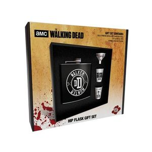 The Walking Dead Flachmann  Geschenkset -  'Walker Hunter' Flask mit Trichter