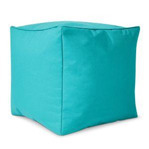Green Bean © Cube Sitzsack Hocker 40x40x40 cm, Würfel & Addon für Cozy Gaming Beanbag, Sitzhocker, Fußhocker für Sitzsäcke, Fußkissen & Stütze, Fußablage für Kinder und Erwachsene, Türkis