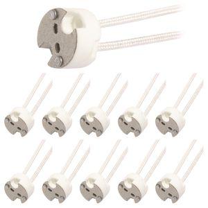 10x 12V Lampen Fassung G4 MR16 GU5,3 GX5,3 GY5,3 MR11 GU4 Sockel mit Kabel 100W