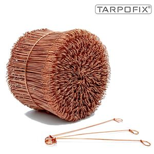 Tarpofix® Ösendraht Betonbindedraht 1,0 x 160 mm (500 Stk.) - verkupferter Rödeldraht - Drilldraht für Drillapparat