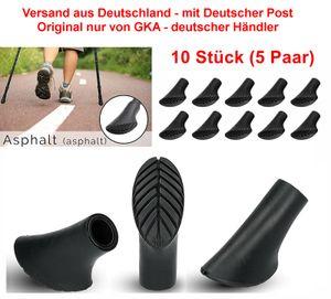 GKA 10 Stück (5 Paar) Nordic Walking Asphaltpads Asphalt Ersatzfüße für Nordic Walking Stöcke Gummipuffer Trekking Stöcke Grip Pads