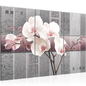 Blumen Orchidee BILD 120x80 cm − FOTOGRAFIE AUF VLIES LEINWANDBILD XXL DEKORATION WANDBILDER MODERN KUNSTDRUCK MEHRTEILIG 204631c