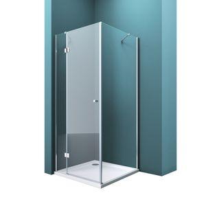 Mai & Mai Duschabtrennung R05k Klarglas 100x100, 6mm ESG-Sicherheitsglas, Duschwand aus Echtglas, Nanobeschichtung Duschkabine
