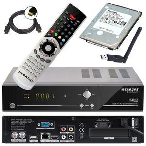 HD TWIN SAT RECEIVER – Megasat HD 935 V2 mit 1 TB Festplatte und W-Lan Stick (PVR, USB, LAN, W-Lan, HDMI) Mediacenter und Live TV auf Ihrem mobilen Geräten