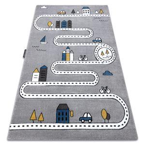Kinderteppich PETIT STREET STRAßEN grau Grau 160x220 cm