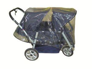 Regenschutz für Krippenwagen Helena 4 Sitzer 50705 Wetterschutz Regenplane NEU