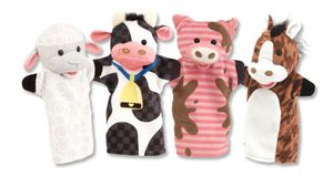 Melissa & Doug Handpuppen Bauernhof Freunde 4 Tiere
