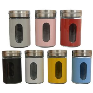 6 Stück Gewürzgläser Gewürzdosen Salz-Pfeffer Streuer Gewürzstreuer Set Bunte Farben
