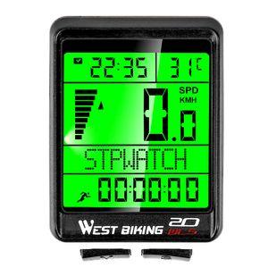 Wasserdichter Fahrradcomputer Drahtloser 5 sprachiger Fahrrad Kilometerzähler Stoppuhr Tachometer 2,1 Zoll LCD Fahrradcomputer