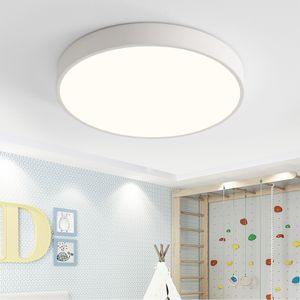 Natsen 12W LED Deckenleuchte ultra dünn Deckenlampe rund warmweiß 3000k für küche Dieler Schlafzimmer (weiß)