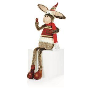 Christmas Shop Esel-Figur mit baumelnden Beinen RW6409 (Einheitsgröße) (Esel)