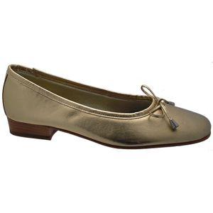 Riva Provence Damen Leder Ballerina Schuhe FS319 (41 EUR) (Gold)