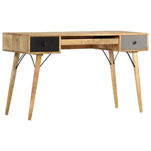 vidaXL Schreibtisch mit Schubladen 130 x 50 x 80 cm Massivholz Mango