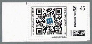 Briefmarke mit QR-Code-Motiv Randstück, von M-ware®. ID12625