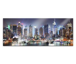 Acrylglasbild 100x40cm Skyline New York Stadt USA Acrylbild Acryl Bild UV Druck Acrylglas Acrylglasbilder 14G369