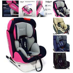 Kindersitz Daliya Sitorino 0-36KG Isofix Top Tehther Reboarder Kinder Autositz Autokindersitz für Kinder von 1-12 Jahre, Gruppe 1/2/3, ECE R44/04 Pink