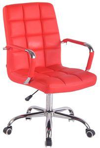 CLP Bürostuhl Deli höhenverstellbar und drehbar, Farbe:rot