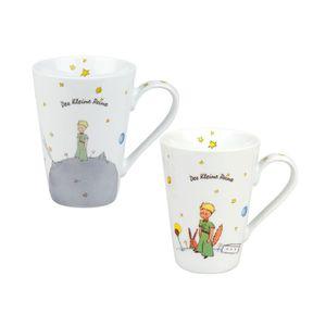 """Könitz Porzellan Kaffeebecher 2 teiliges Set"""" Der kleine Prinz """", 420 ml schönes Kaffee Tassen Set, tolle Geschenkidee,"""