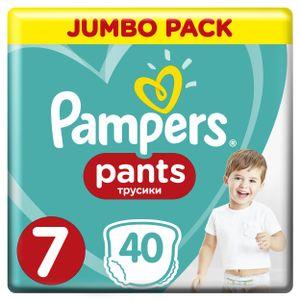 Pampers Pants, Größe 7 Extra Large Plus, 40 Windeln