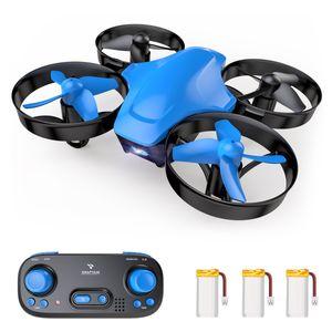SNAPTAIN SP350 Mini Drohne mit 3 Akkus für 21 Minuten Flugzeit, RC Drone, Mini Helikopter mit Kopfloser Modus, Throw'N Go, 3 Geschwindigkeitsmodi, Spielzeug Drohne für Anfänger und Kinder