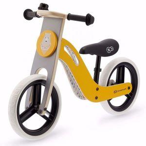Kinderkrft Laufrad aus Holz UNIQ Einzigartiges lauffahrrad Gelb