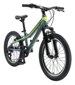BIKESTAR Kinder Jugend Mountainbike 20 Zoll ab 6 - 7 Jahre   Hartail MTB Scheibenbremse Federgabel   Petrol Grün
