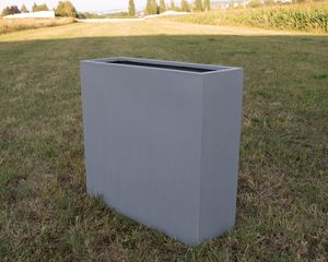 Pflanztrog, Pflanzkübel Fiberglas als Raumteiler 84x30x80cm grau.
