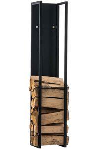 CLP Kaminholzständer Spark, Farbe:schwarz-matt, Größe:140 cm
