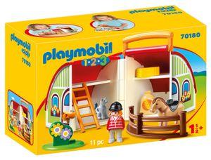 PLAYMOBIL 1.2.3. 70180 Mein Mitnehm-Reiterhof