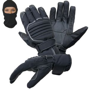 Motorradhandschuhe Regen Winter Motorrad Handschuhe im Set mit Sturmhaube