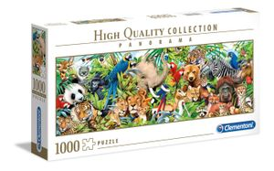 Clementoni puzzle HQ Panorama - Wildtiere 1000 Teile
