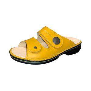 Finn Comfort Sansibar, Damen, Pantolette, Sole (Gelb), bequem, Leder, NEU - Damenschuhe Pantolette /  Zehentrenner, Gelb, leder (savanna)