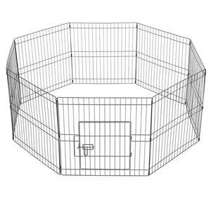 Yaheetech Welpenauslauf 8 Teile Welpenlaufstall  Laufgitter Freilauf  61×61 cm für Kleintiere
