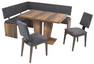 Eckbank Eckbankgruppe Essgruppe MILANO 150 x 180 cm Old Wood Vintage