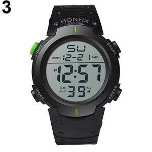 Herren Casual Sports Wasserdichte LED Hintergrundbeleuchtung Datum Digitale Armbanduhr