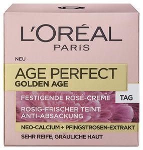 L'Oreal Loreal Paris Age Perfect Golden Age Tagespflege mit Neo-Calcium und Pfingstrosen-Extrakt sorgt für einen rosig-frischen Teint LSF 20  1x 50ml
