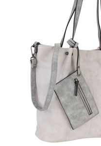 Emily & Noah Bag in Bag Surprise 300 Handtasche Gr. M Hellgrau/Grau