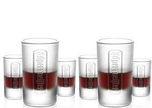12 Jägermeister Shot Gläser Jägermeister 4 cl Frosted, Schnapsglas Glas Trinkglas Shotglas