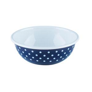 Riess Küchenschüssel Pünktchenblau Emaille 18cm