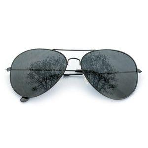 Oblique Unique Pilotenbrille Sonnenbrille Herren Damen Flieger schwarz