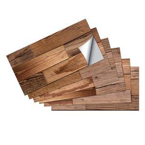 6/18/36/54 Stk Holzmaserung Fliesenaufkleber Selbstklebend 30x15cm,Farbe: Braun Holz Textur,Menge:36 Stk